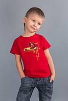 Детская футболка для мальчика красная Sport от 2-6 лет размер 92-122