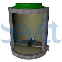 Инженерный колодец железобетонный КИЖБ с внутренней пластиковой стенкой