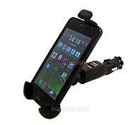 Универсальный автомобильный держатель с зарядкой для смартфонов высотой 110-130мм