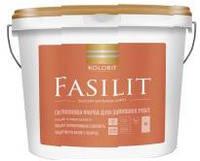 Краска фасадная Fasilit (facade LUXE) KOLORIT с силиконом, 9л