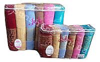 Банные полотенца набор 6 шт. 70х140 Julia VIP Cotton 100% / ВИП Хлопок 100%, фото 1