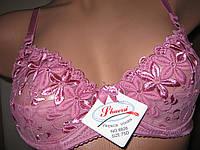 Бюстгальтер женский с вышивкой розовый чашка А