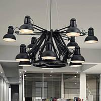 Светильник люстра Loft [ Spider folding ] 9 Lamp