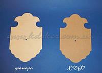 Основа для часов Фигурная (материал ХДФ) заготовка для декупажа и декора