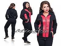 Женский теплый спортивный костюм Альбертина трехнитка (размеры 50-60), фото 1
