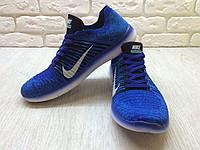 Мужские кроссовки  Nike Free Run Flyknit Blue 3