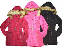 Куртка зимняя для девочек, размеры 6,12,14, лет, арт. GZ00-7