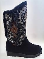 Женские замшевые зимние стильные комфортные черные угги, ugg Foletti