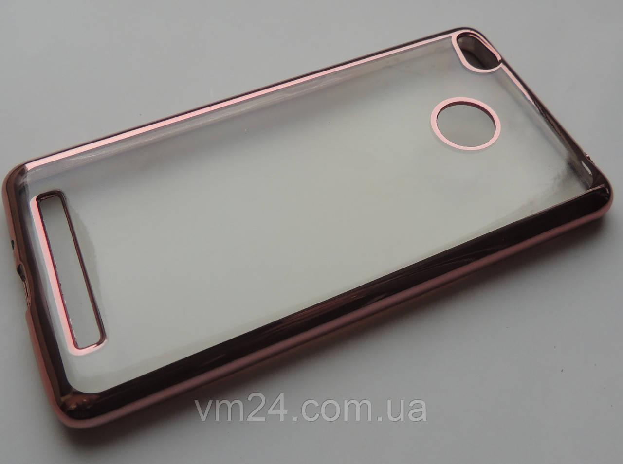 TPU чехол Xiaomi Redmi 3s, 3 Pro Gold Roze