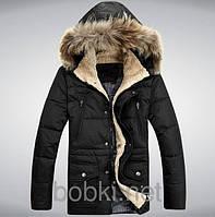 Куртка пуховая мужская, пуховик мужской зимний MYO, в наличии, на утином пухе
