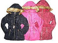 Куртка зимняя для девочек, размеры 6,8,12,14 лет, арт. G-10
