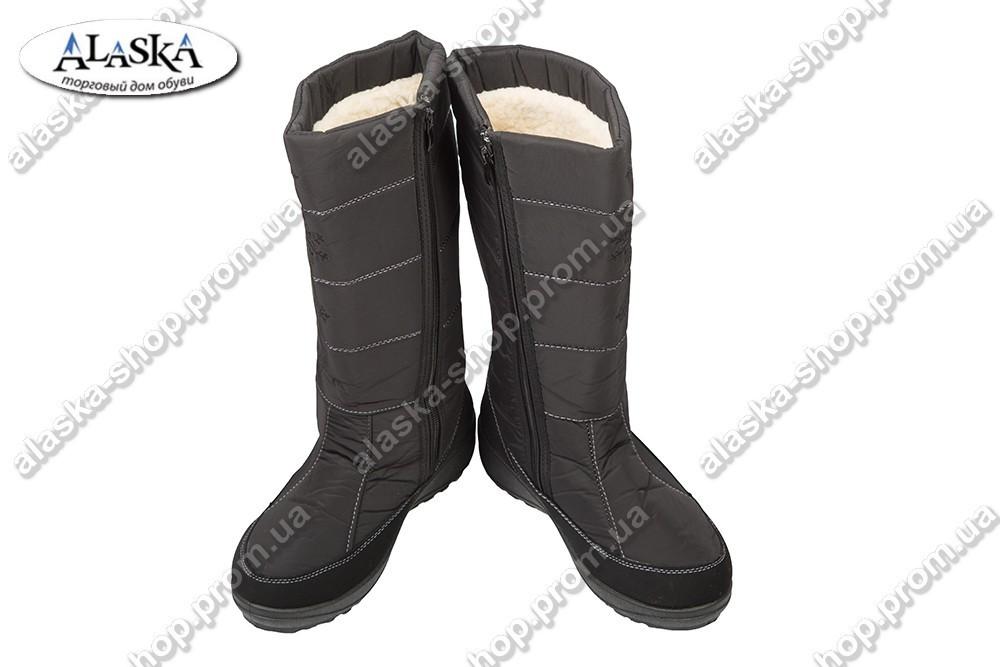 Женские сапоги черные (Код: ZL-06)