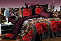 Семейный набор хлопкового постельного белья из Ранфорса №209 Черешенка™