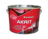 Краска интерьерная акриловая латексная  полуматовая ESKARO AKRIT 12  0,95л