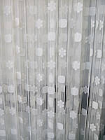 Нитяная штора белая