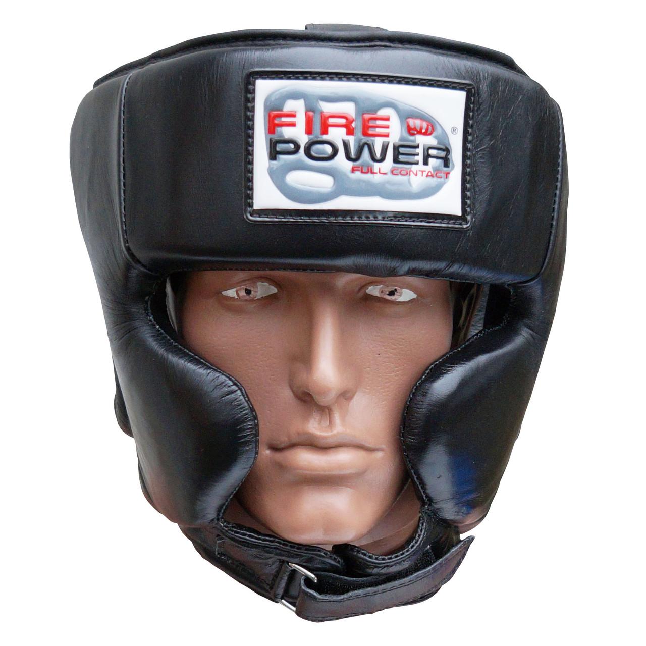 Шлем боксерский для тренировок FIREPOWER FPHG4 Black