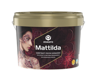Краска  интерьерная акрилатная глубокоматовая стойкая к мытью с воском ESKARO MATTILDA  9,5л