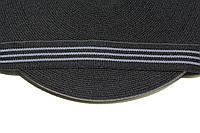 Резинка декоративная 30мм, черный+серый , фото 1