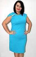 """Платье женское вечернее батал """"Бант"""", миди, разные цвета, размеры от 48 до 56. Розница, опт в Украине."""