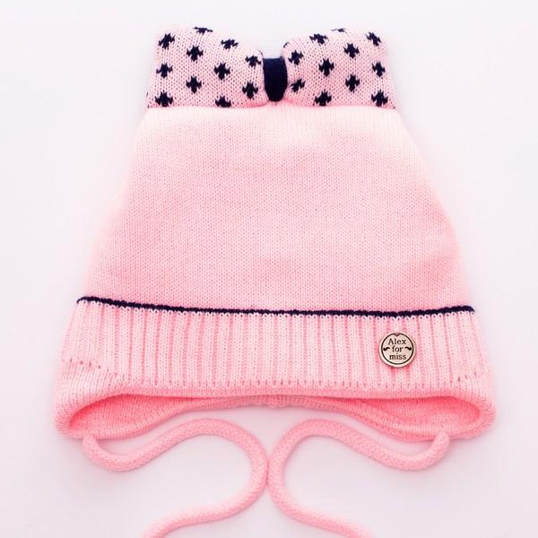 Детская зимняя шапка на флисе для девочки