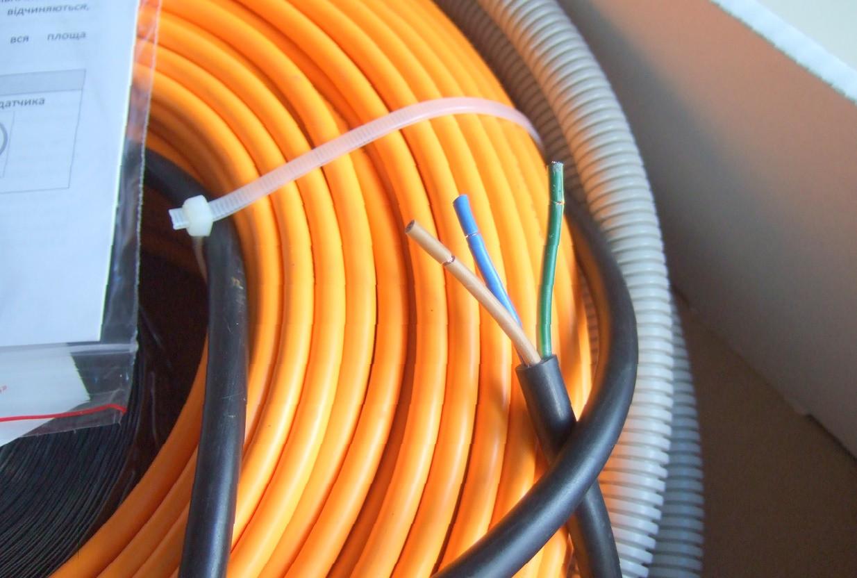 Теплый пол Woks нагревательный кабель в стяжку 21 м (2,0-2,5 м2)
