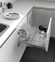 Inoxa Висувна Сушка для посуду, серія Ellite, корпус 600мм, напрямні Grass 5703E(AS)/60-45