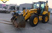 Аренда,услуги экскаватора JCB 3CX  вилы, траншейный ковш, гидромолот., фото 1