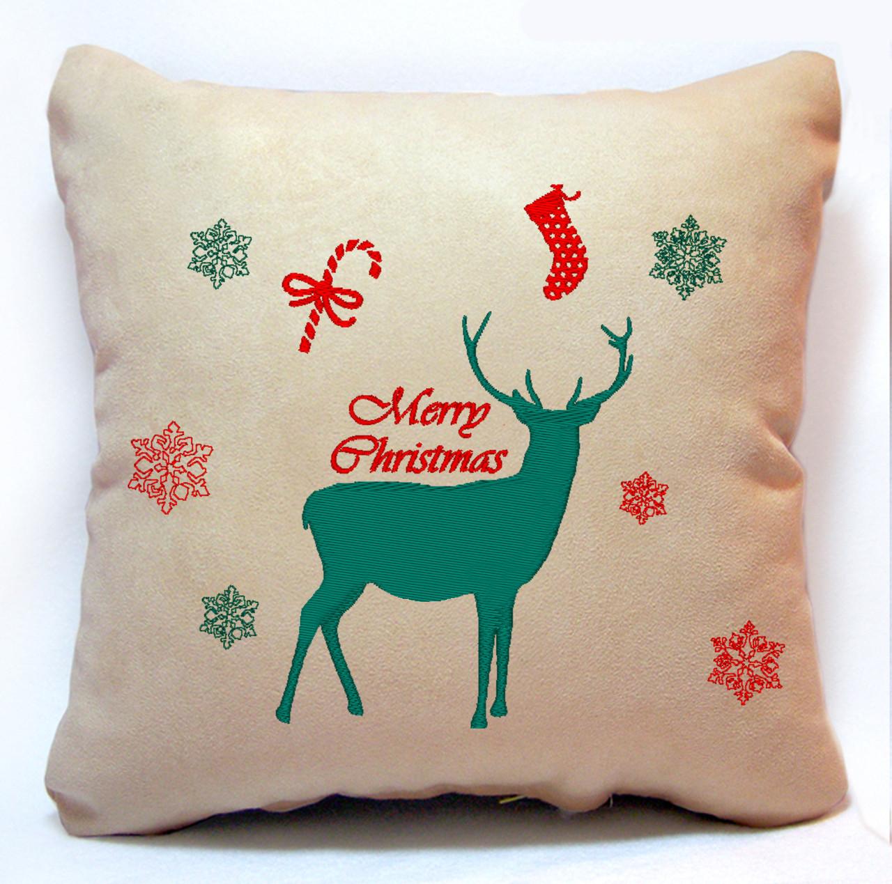 "Новорічна подушка ""Merry Christmas"" 26"