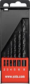 Набор сверл по металлу HSS 6 шт. 2-8мм Yato YT-4460