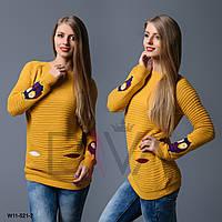 """Красивый свитер женский """"Совы"""" Арт. W11-521-2"""