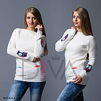 """Свитер женский """"Совы"""" Арт. W11-521-3 свитера дешево Украина"""