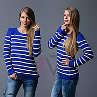 Свитер женский полосатый Арт. W11-526-4 оптовая продажа свитеров в интернете