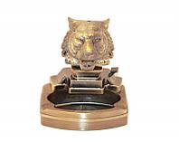 Сувенирная пепельница с зажигалкой Голова Тигра