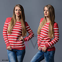 Свитер женский полосатый  W11-526-1