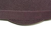 Резинка декоративная 40мм, т. коричневый , фото 1