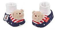 """Игровые носки погремушки для мальчика """"Мишка"""" Fehn 78107 (78107)"""