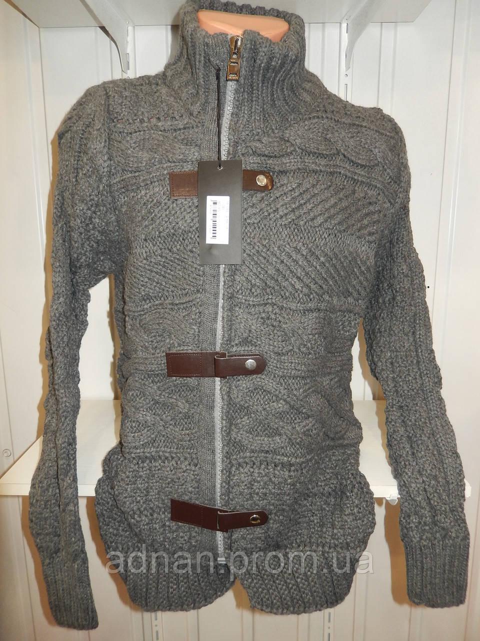 Кофта зимняя Lee'Ecossе змейка + заклепки 002/ купить оптом свитер зимний