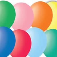 """Шарики 3""""(8см) пастель, в упаковках по 100 шт. без рисунка цвет ассорти"""