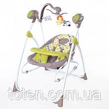 Дитяче крісло - качалка шезлонг BT-SC-0005 Багато квітів 5 швидкостей заколисування. Спинка 3 положення.