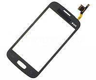 Тачскрин сенсор Samsung S7260, S7262 Galaxy Star Plus Duos черный (проклейка)