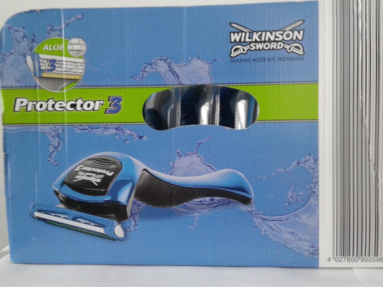 Набор станков и картиджей  Wilkinson Sword Protector 3 15 станков Протектор 3 + 8 упак. картиджей по 4 шт.
