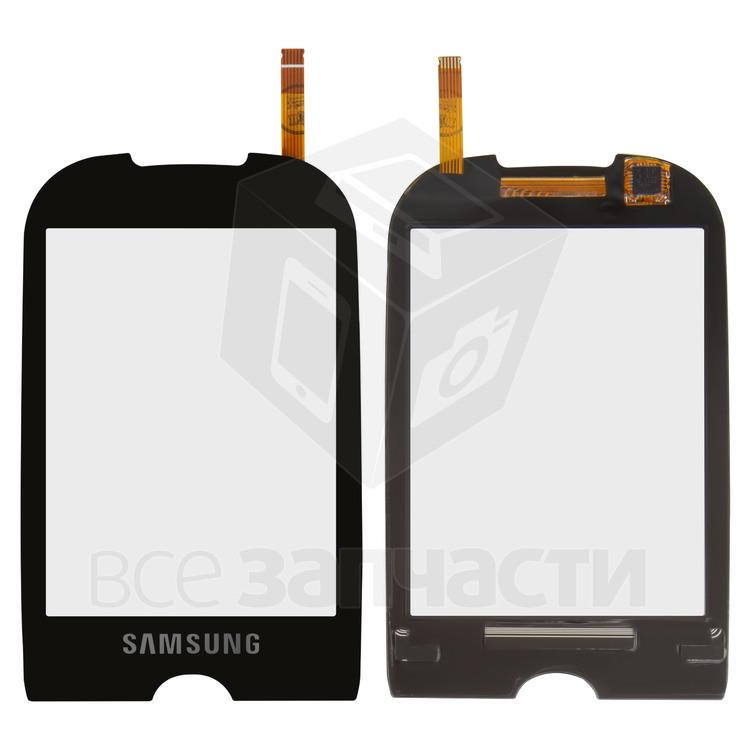 Сенсорный экран для мобильного телефона Samsung S3650, черный