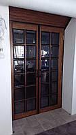 Двери межкомнатные шпонированные распашные с навесным порталом