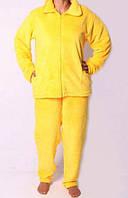 Пижама махровая на замке жёлтая