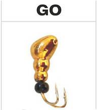 Мормышка вольфрамовая муравей с отверстием (коза), цвет золото