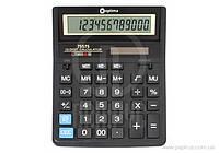 Калькулятор настільний Optima, 12 розрядів, розмір 203*158*30.5 мм 75575