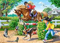 Пазлы Верховая езда, 180 элементов Castorland  В-018079