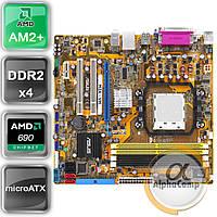 Материнская плата Asus M2A-VM (AM2+/AMD 690G/4xDDR2) БУ, фото 1
