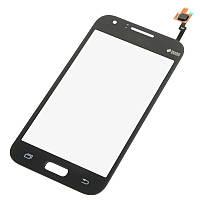 Тачскрин сенсор Samsung J100h Galaxy J1 черный (проклейка)
