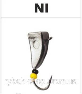 Блешня вольфрамова молоток з вушком, колір нікель